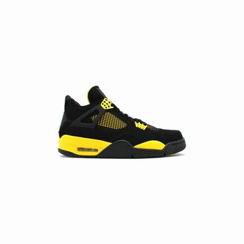 the latest dd5b9 3bb81 308497-008 Air Jordan 4 Retro Thunder Black White-Tour Yellow