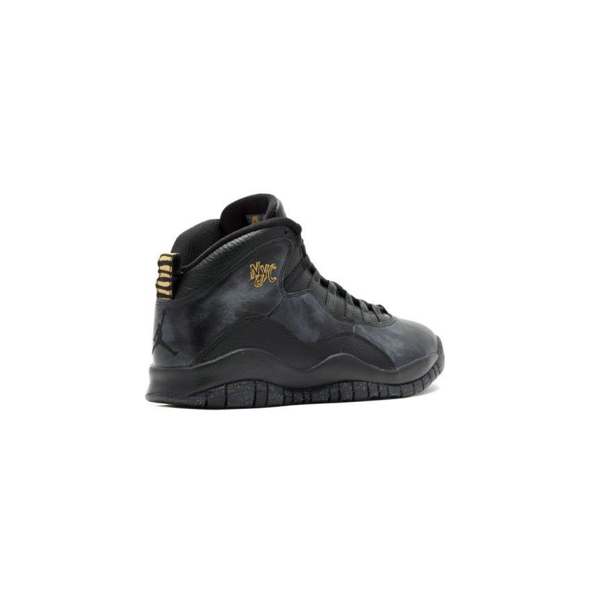 ef2ac6320059dc Authentic Air Jordan 10 Retro Black Dark Grey-Metallic Gold (NYC) Men Shoes  310805-012