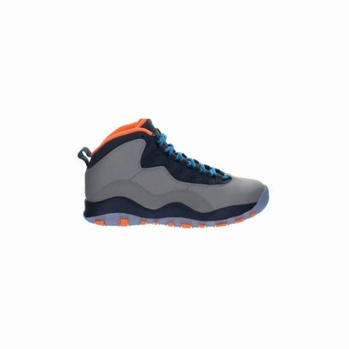 best loved f5907 b362b 310805-026 Air Jordan 10 Retro Wolf Grey Dark Powder Blue-New Slate-Atomic  Orange, Jordan Retro 14, Jordan 14 Shoes