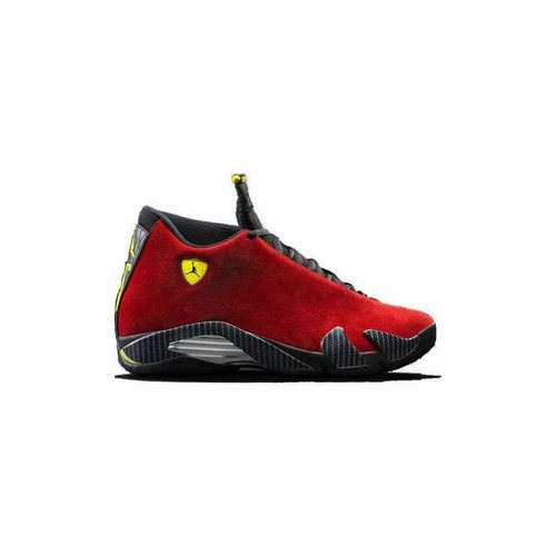 e624b983bdcad4 Authentic 654459-670 Air Jordan 14 Retro Varsity Red Vibrant Yellow-Black